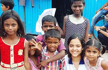 Service activity with Mumbai Street Children
